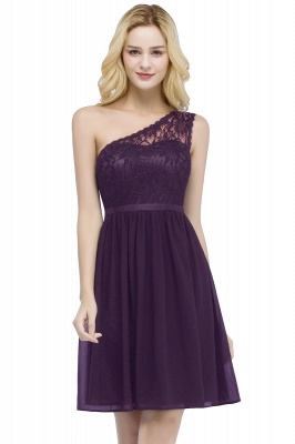 ROSA | A-line Short One-shoulder Lace Top Chiffon Homecoming Dresses with Sash_2
