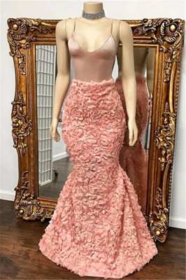 Floor Length Spaghetti Straps Mermaid Gorgeous Prom Dresses Cheap_2