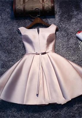 Short Sleeveless Lace-up Elegant Sexy Short Homecoming Dresses_2
