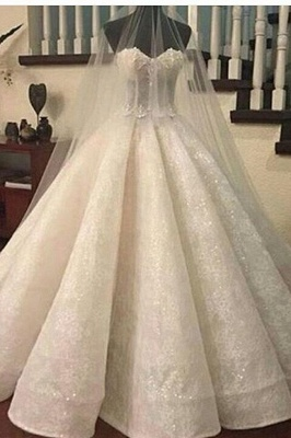 Gorgeous Ruffles Sweetheart Bridal Gowns Cheap | Sexy Ball Gown Wedding Dresses Online_2
