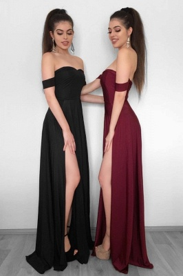 Sexy High Slit Evening Gowns   Off-the-Shoulder Formal Dresses_2
