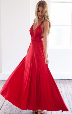 Sexy A-line Sleeveless Red Detached Prom Dress Floor-length_1