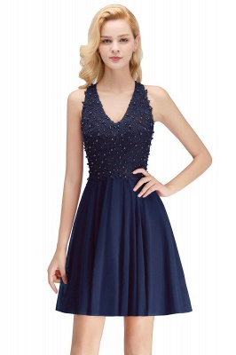 NONA | A-line V-neck Sleeveless Short Appliques Chiffon Homecoming Dresses_3