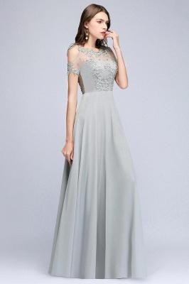 Appliques A-Line Cold-Shoulder Scoop Cheap Beaded Silver Bridesmaid Dresses_6