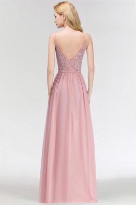 Keyhole Lace Chiffon Floor-Length Halter Long Bridesmaid Dress_3