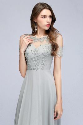 Appliques A-Line Cold-Shoulder Scoop Cheap Beaded Silver Bridesmaid Dresses_7