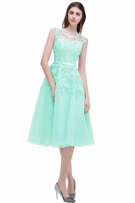 Tea-Length A-line Sheer-Neck Amazing Lace-Appliques Beaded Party Dresses_7