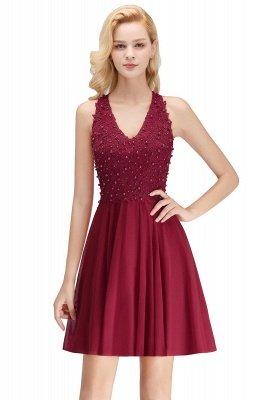 NONA | A-line V-neck Sleeveless Short Appliques Chiffon Homecoming Dresses_2
