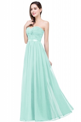 ADELINA | A-line Strapless Chiffon Bridesmaid Dress with Draped_4