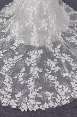 Spaghetti Strap Appliques Mermaid Wedding Dress_10