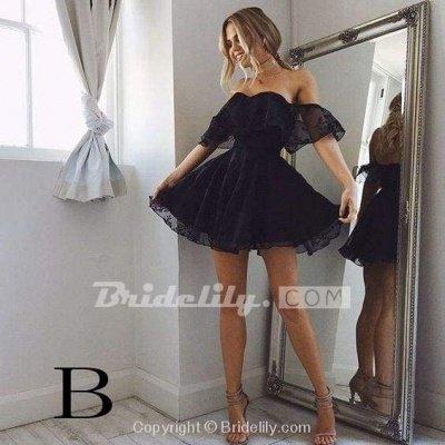 A-Linie Spitze Off-Shoulder Kurze Ballkleider Pearl Pink Homecoming Dress_3
