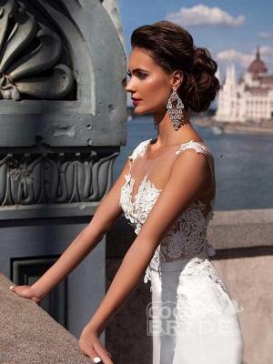 Sexy ärmelloses Meerjungfrau-Brautkleid mit Sweep-Zug_5