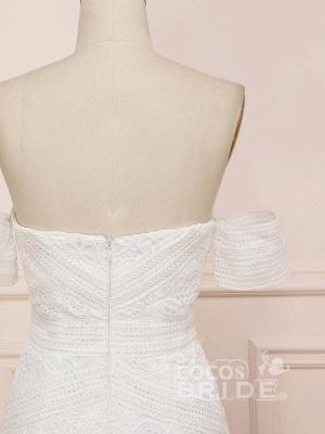 Elegant Sweetheart Lace Mermaid Boho Wedding Dresses Off Shoulder Simple Dress for Bide_6