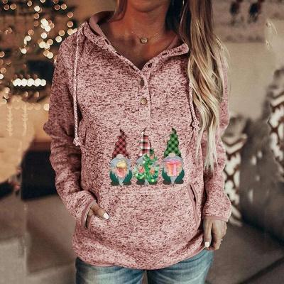 Sudaderas con capucha de villano navideño para mujer Sudaderas casuales de manga larga_2