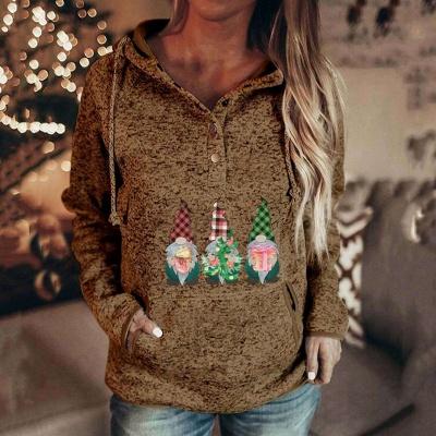Sudaderas con capucha de villano navideño para mujer Sudaderas casuales de manga larga_4