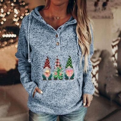 Sudaderas con capucha de villano navideño para mujer Sudaderas casuales de manga larga_3