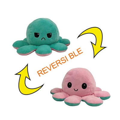 5pcs Reversible Octopus Plush Toys 20*10 cm Emotion Stuffed Animal Mood Changing Happy Sad Angry Mad Grumpy Flippable Inside out Emotional_19