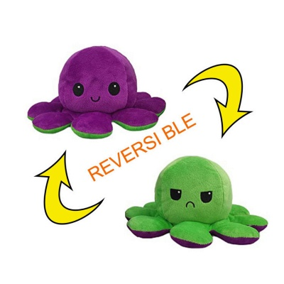 5pcs Reversible Octopus Plush Toys 20*10 cm Emotion Stuffed Animal Mood Changing Happy Sad Angry Mad Grumpy Flippable Inside out Emotional_7