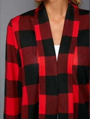 Women's Merry Christmas Print Plaid Sleeve Sweatshirt_4