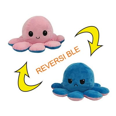 5pcs Reversible Octopus Plush Toys 20*10 cm Emotion Stuffed Animal Mood Changing Happy Sad Angry Mad Grumpy Flippable Inside out Emotional_16
