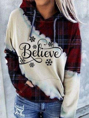 Snowman Printed Hoodies Casual Sweatshirt Long Sleeve Top for Women_3