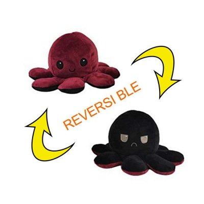 5pcs Reversible Octopus Plush Toys 20*10 cm Emotion Stuffed Animal Mood Changing Happy Sad Angry Mad Grumpy Flippable Inside out Emotional_1