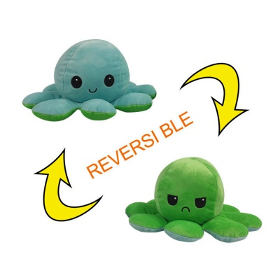 5pcs Reversible Octopus Plush Toys 20*10 cm Emotion Stuffed Animal Mood Changing Happy Sad Angry Mad Grumpy Flippable Inside out Emotional_6