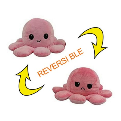 5pcs Reversible Octopus Plush Toys 20*10 cm Emotion Stuffed Animal Mood Changing Happy Sad Angry Mad Grumpy Flippable Inside out Emotional_11