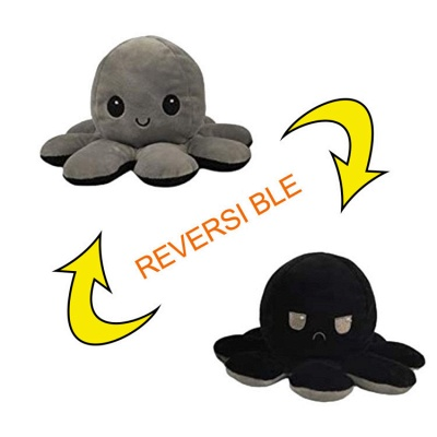 5pcs Reversible Octopus Plush Toys 20*10 cm Emotion Stuffed Animal Mood Changing Happy Sad Angry Mad Grumpy Flippable Inside out Emotional_2