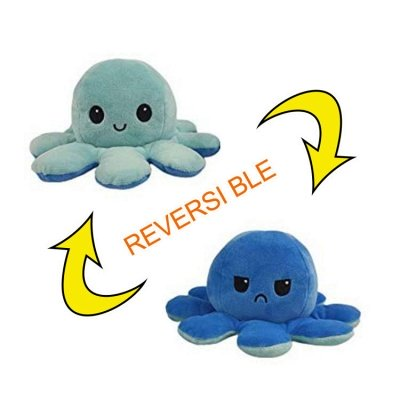 5pcs Reversible Octopus Plush Toys 20*10 cm Emotion Stuffed Animal Mood Changing Happy Sad Angry Mad Grumpy Flippable Inside out Emotional_10