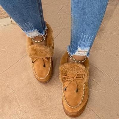 Lässige Falt Sandalen für Damen Winterkleidung_12