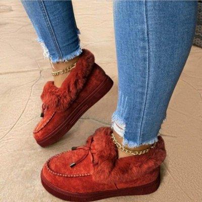 Casual Falt Sandals for Women Winter Wear_4