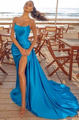 Sexy Sleeveless Evening Party Dress Split front  Cocktail Prom Dress
