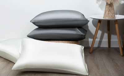 Satin Pillowcase 2 Pack for Hair and Skin Silk Pillowcase-Slip Cooling Satin Pillow Covers with Envelope Closure_18