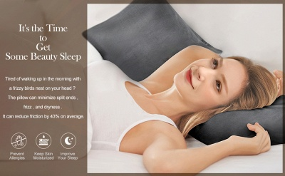 Satin Pillowcase 2 Pack for Hair and Skin Silk Pillowcase-Slip Cooling Satin Pillow Covers with Envelope Closure_23