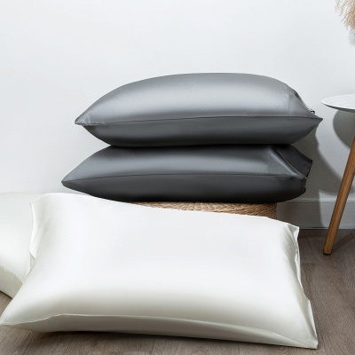 Satin Pillowcase 2 Pack for Hair and Skin Silk Pillowcase-Slip Cooling Satin Pillow Covers with Envelope Closure_17