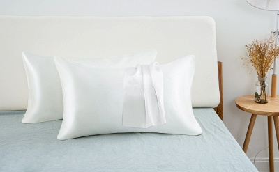Satin Pillowcase 2 Pack for Hair and Skin Silk Pillowcase-Slip Cooling Satin Pillow Covers with Envelope Closure_21