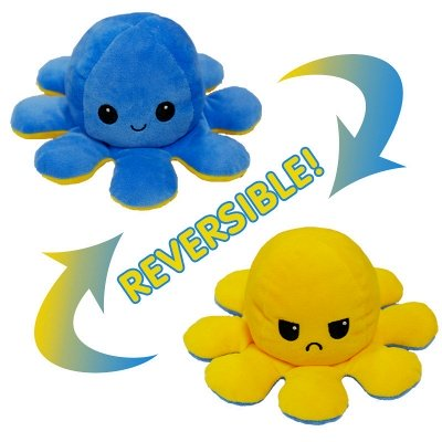 5pcs Reversible Octopus Plush Toys 20*10 cm Emotion Stuffed Animal Mood Changing Happy Sad Angry Mad Grumpy Flippable Inside out Emotional_13