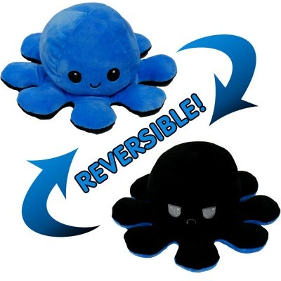 5pcs Reversible Octopus Plush Toys 20*10 cm Emotion Stuffed Animal Mood Changing Happy Sad Angry Mad Grumpy Flippable Inside out Emotional_4