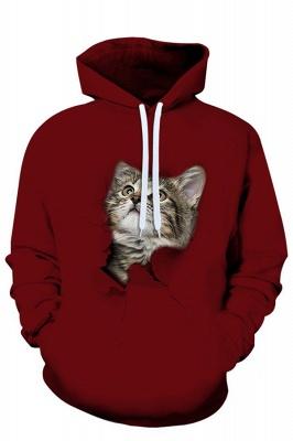Men's Digital Printed Sweatshirts Hooded Top Cute Cat Pattern Hoodie_2