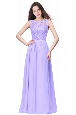 ELYSE   A-line Sleeveless Crew Floor-length Lace Top Chiffon Prom Dresses_4
