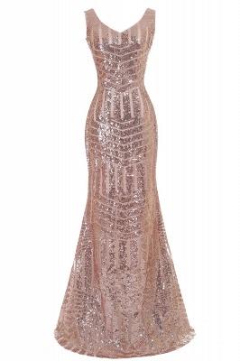 Newest Long Sequin Jewel Mermaid Sleeveless Prom Dress_3