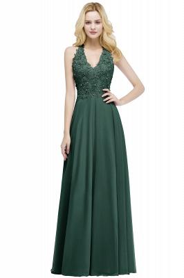 PAM   A-line V-neck Sleeveless Long Appliques Chiffon Bridesmaid Dresses_4