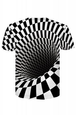 Men Women Short Sleeve R-Shirt Casual 3D Print Crewneck Graphic Tees_2