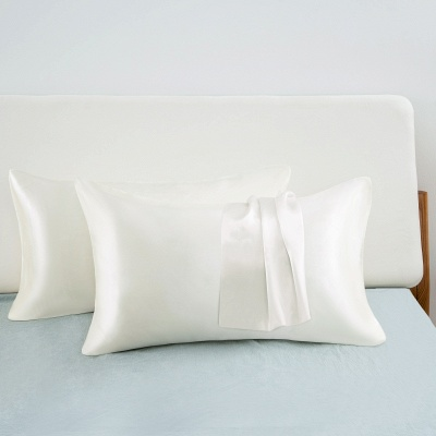 Satin Pillowcase 2 Pack for Hair and Skin Silk Pillowcase-Slip Cooling Satin Pillow Covers with Envelope Closure_33