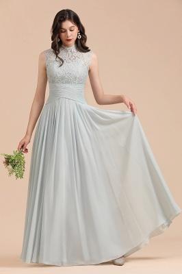 Halter Aline Floor Length Bridesmaid Dress Sleeveless Evening Party Dress_4