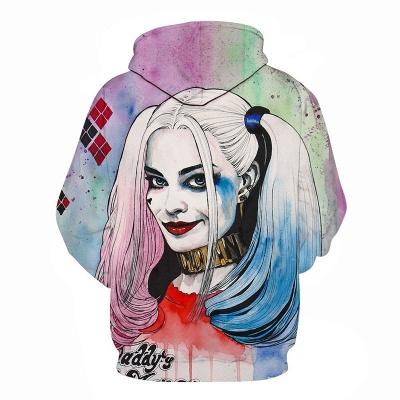 Unisex 3D Harley Quinn Hoodies Bedruckte Pullover-Sweatshirts mit Taschen_2