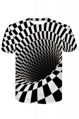Männer Frauen Kurzarm R-Shirt Lässig 3D-Print Rundhals-Grafik-T-Shirts
