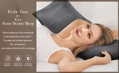 Satin Pillowcase 2 Pack for Hair and Skin Silk Pillowcase-Slip Cooling Satin Pillow Covers with Envelope Closure_26