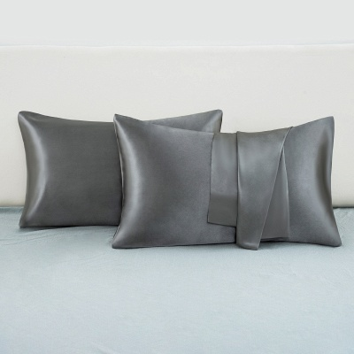 Satin Pillowcase 2 Pack for Hair and Skin Silk Pillowcase-Slip Cooling Satin Pillow Covers with Envelope Closure_41